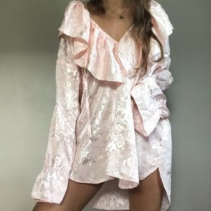 VINTAGE Victoria's Secret Light Pink Satin Nightie